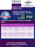 Aws Cwi Training Schedule Mumbai 2015