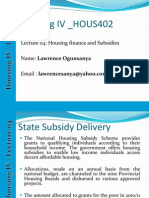 Housing Lecture Notes_04_housing Subsidy