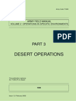 United Kingdom Army Field Manual Desert Operations 2003