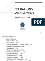 Introduction Operation Management