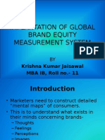 IMPLANTATION OF GLOBAL BRAND EQUITY MEASUREMENT SYSTEM.ppt