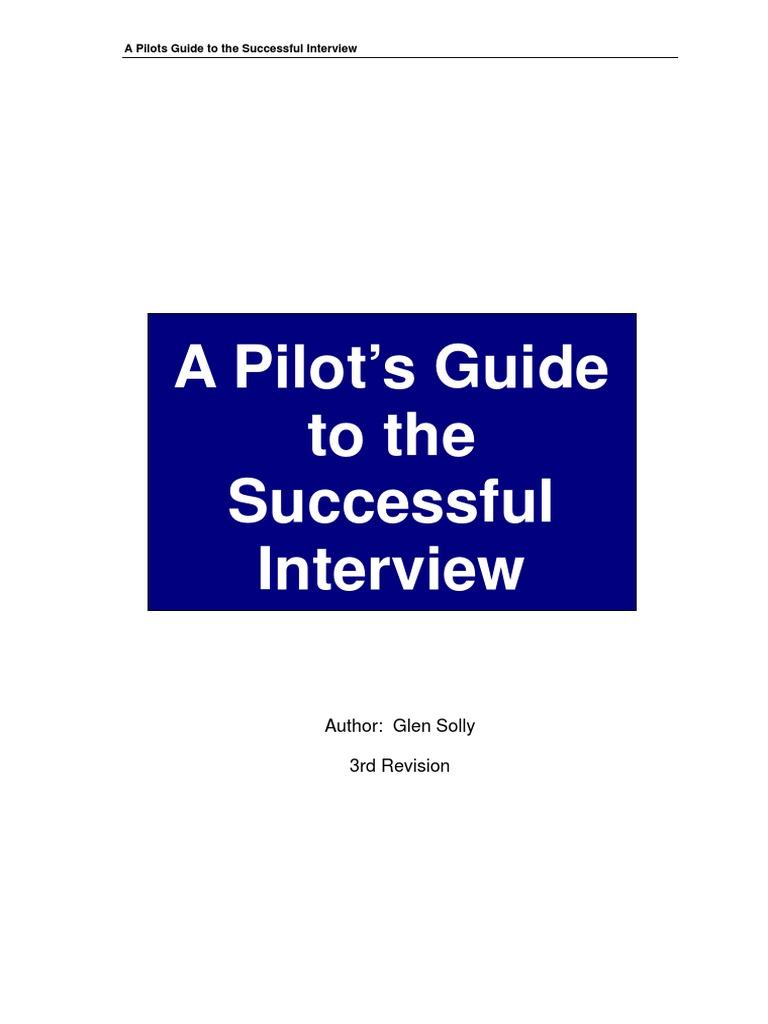 Pilots Guide To The Successful Interview   Pilot (Aeronautics)   Self  Awareness