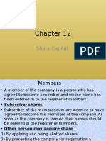 Chapter 12 Share Capital
