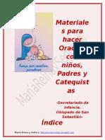 MATERIALES PARA HACER ORACIÓN CON NIÑOS, PADRES Y CATEQUISTAS