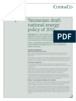 Clyde & Co Tanzania, April 2015 Energy Briefing