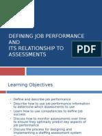 Defining Job Performance