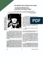 USMC-1993-07 General Al Gray on Global Intelligence Challenges