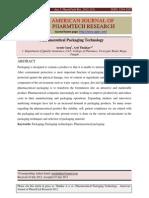 AJPTR Pharmaceutical Packaging Technology