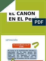 EL CANON EN EL PERU