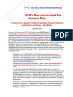 Wolf's Discombobulated Tax Increase Plan