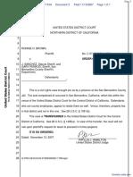 Brown v. Sanchez et al - Document No. 3