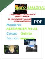 Educacion Ambiental Cuestionario de La Pelicula Al Gore
