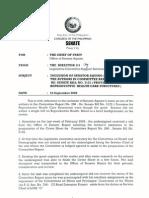 RH Senate Secretariat Apology