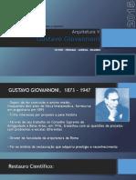 Gustavo Giovannoni - Patrimônio Urbano