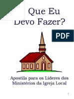 Treinamento - o Que Eu Devo Fazer - Igreja Adventista