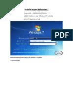 Instalaci n de Windows 7