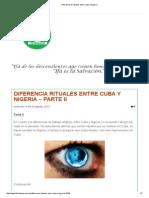 Diferencia de Rituales Entre Cuba y Nigeria