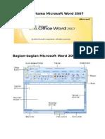Tampilan Pertama Microsoft Word 2007
