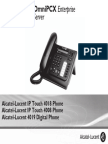 ENT PHONES IPTouch-4008-4018-4019Digital-OXEnterprise Manual 0907 PT