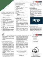 "Protocolo Del Acompaã'Ante Pedagã""Gico Especializado-IV Ciclo"