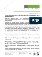 Press Release - Sustainability Think Tank Shares Insight on How to Make Berde a Part of Effective Policy - Ecotektonika - 2010