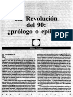 HILDA SÁBATO - La Revolución Del 90. Prólogo o Epílogo