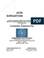 Atm Simulation Final Report