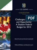 C.D. Howe Shadow Budget 2015