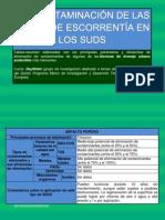 Eficacia de descontaminación de los SUDS