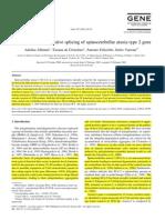 Affaitati (2001) Identification of Alternative Splicing of Spinocerebellar Ataxia Type 2 Gene