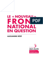 "Le ""Nouveau"" Front national en question"