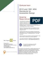 2010 and 1991 ADA Scoping Comparison