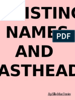 Exsisting Names and Mastheads