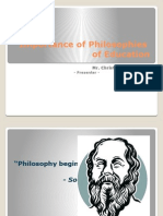 Importance of Philosophies of Education