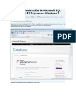 Microsoft SQL Server 2008 R2 Express en Windows 7