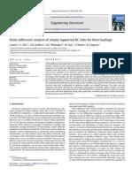 Finite Difference Analysis of Simply Supported RC Slabs for Blast Loading שיטת הפרשים סופיים לתגובת קורת בטון לפולס לחץ פשוט