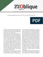 La rassegna stampa di Oblique di marzo 2015