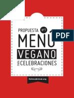 Menú Vegano para Celebraciones-Defensanimal.org