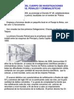 Creacion Del La PTJ  HISTORIA DEL CUERPO DE INVESTIGACIONES CIENTÍFICAS, PENALES Y CRIMINALÍSTICAS