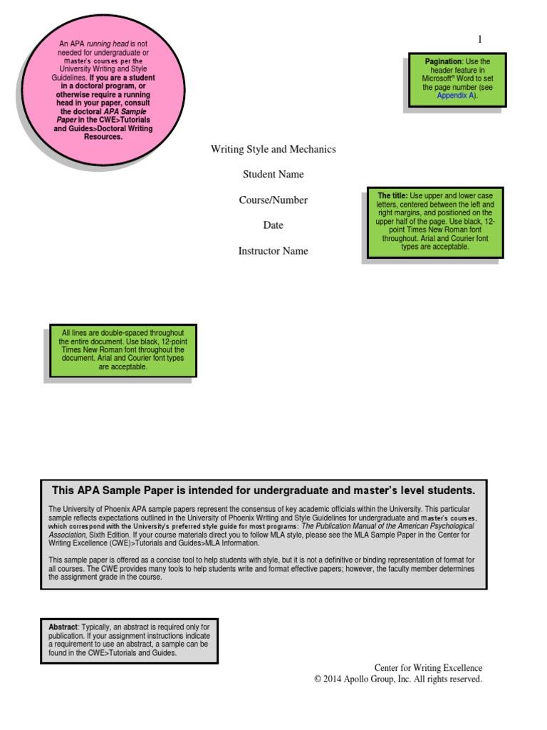 APA uopx SamplePaper undergradandMasters | Citation | Apa Style