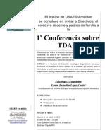 Invitación Conferencia TDAH