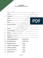 A Checklist Construction Contracts