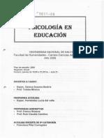 Psicología en Educación - 2009