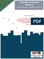 TFM Jurisprudencia TJUE Sobre Desplazamiento Trabajadores Prestación Transnacional Servicios