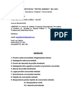 Referate Dr. Concurentei