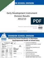EDI 2012-13 Results Summary