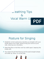 Breathing & Warm-Up Tips