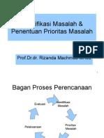 Identifikasi Masalah & Penentuan Prioritas Masalah