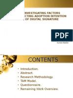 Adoption Intention of Digital Signature in India