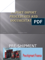 Export Import Procedure and Documentation